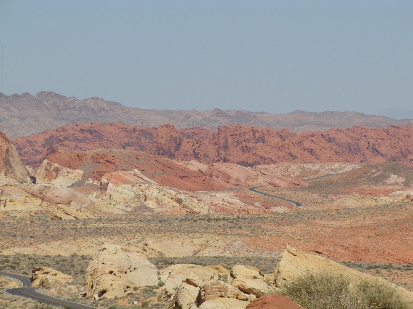 Différente couche de sable vallée du feu
