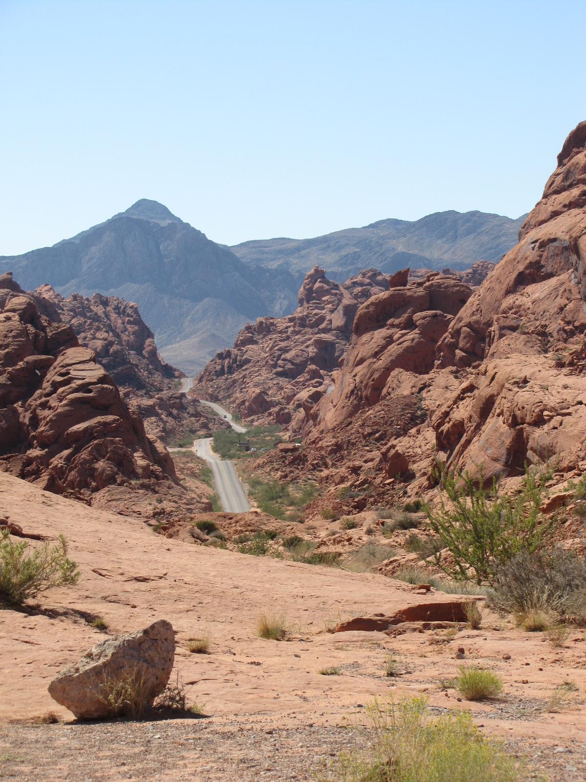 une route dans le desert ...