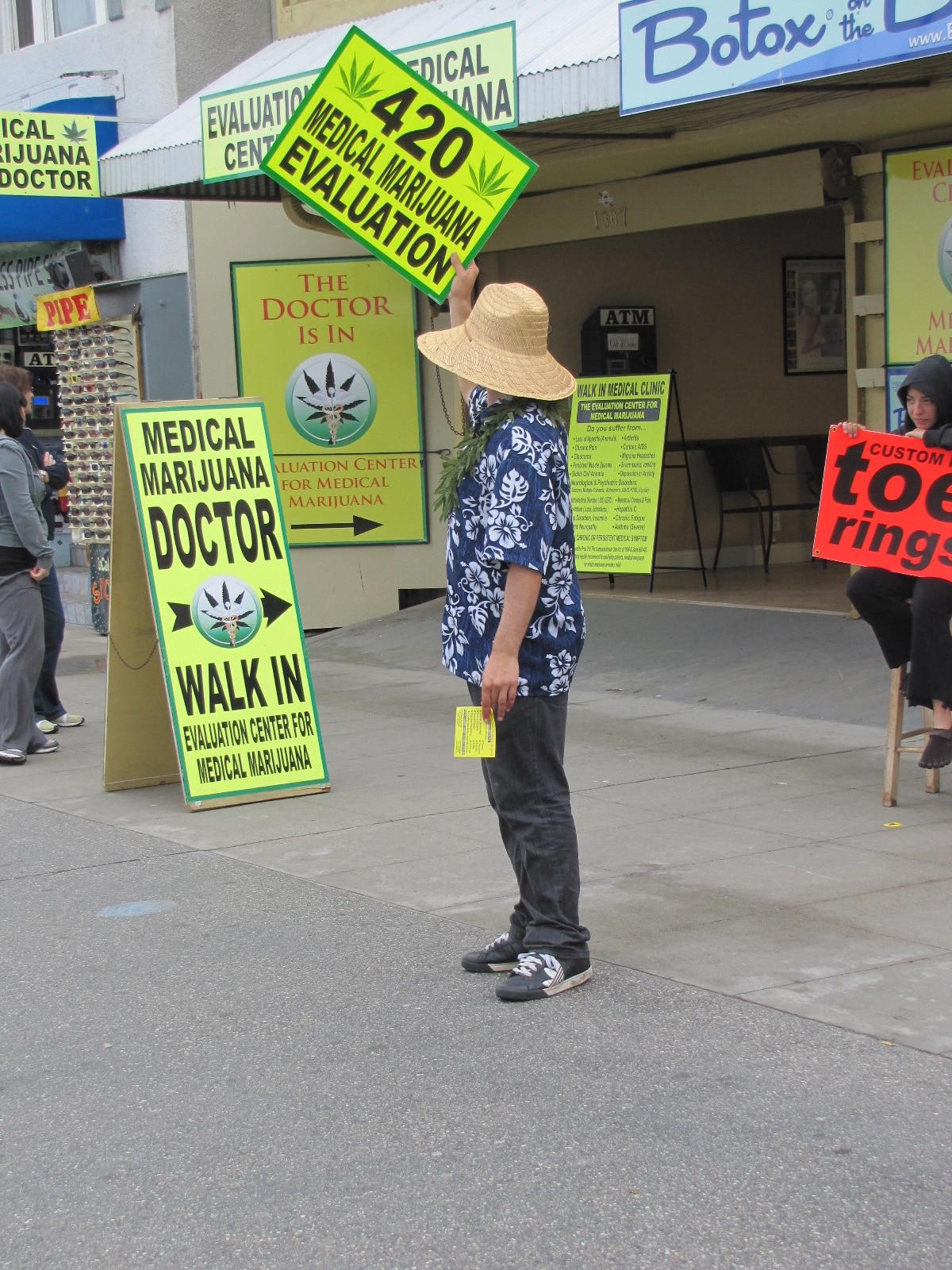 Vendeur légal de Marijuana sur venice beach