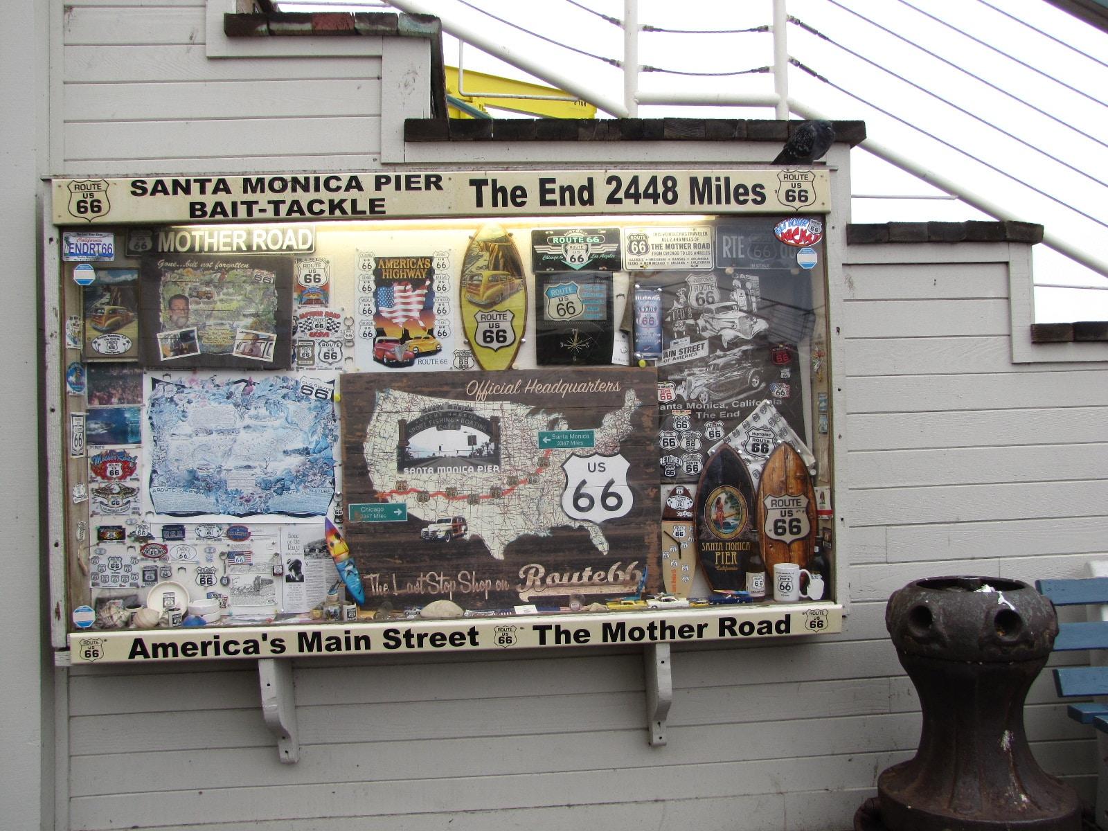 Fin de la route 66 à Santa Monica Pier