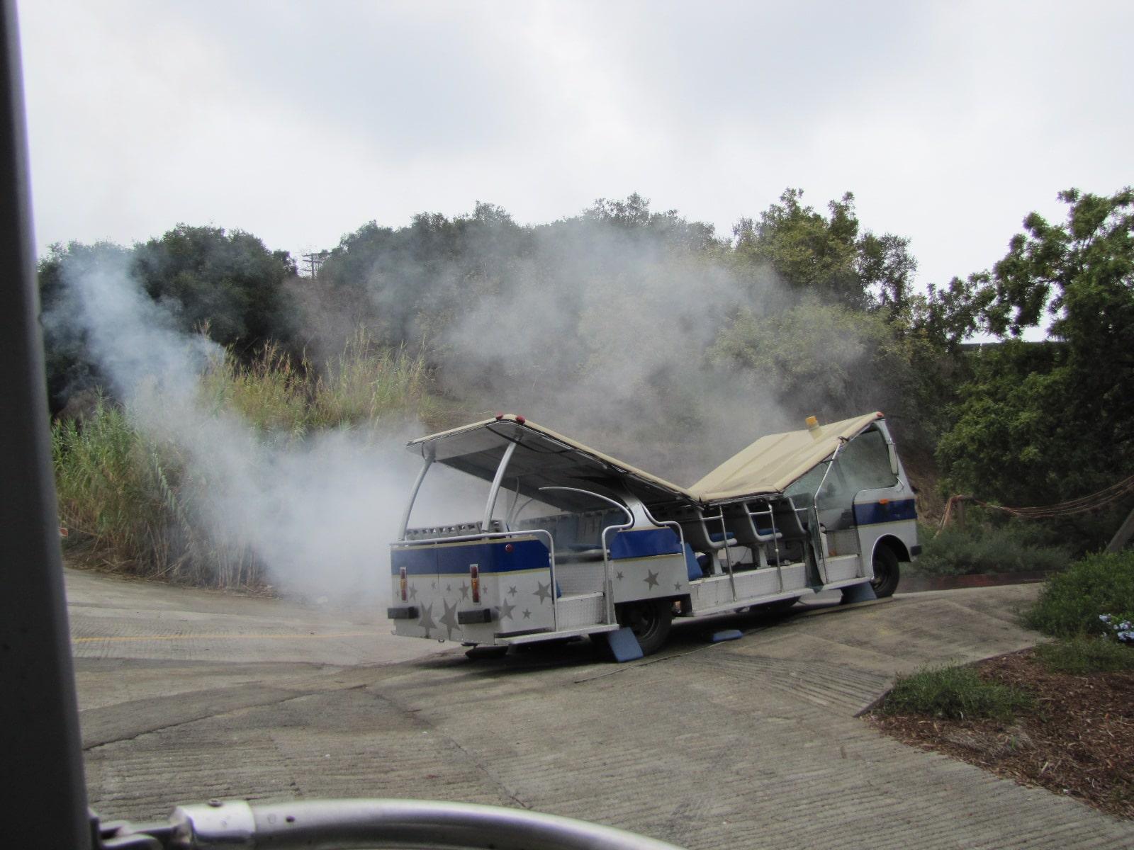 Accident de tram pendant la visite de King Kong