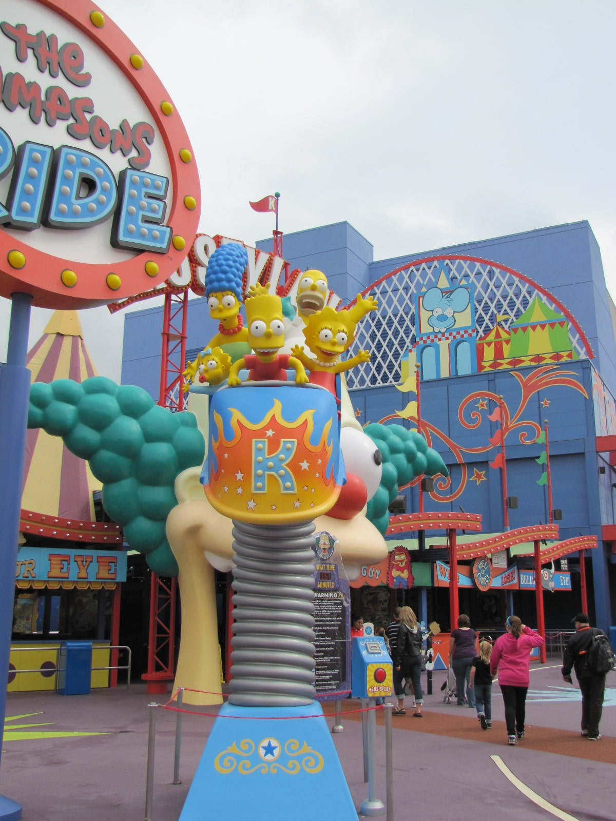Entrée du Simpsons ride