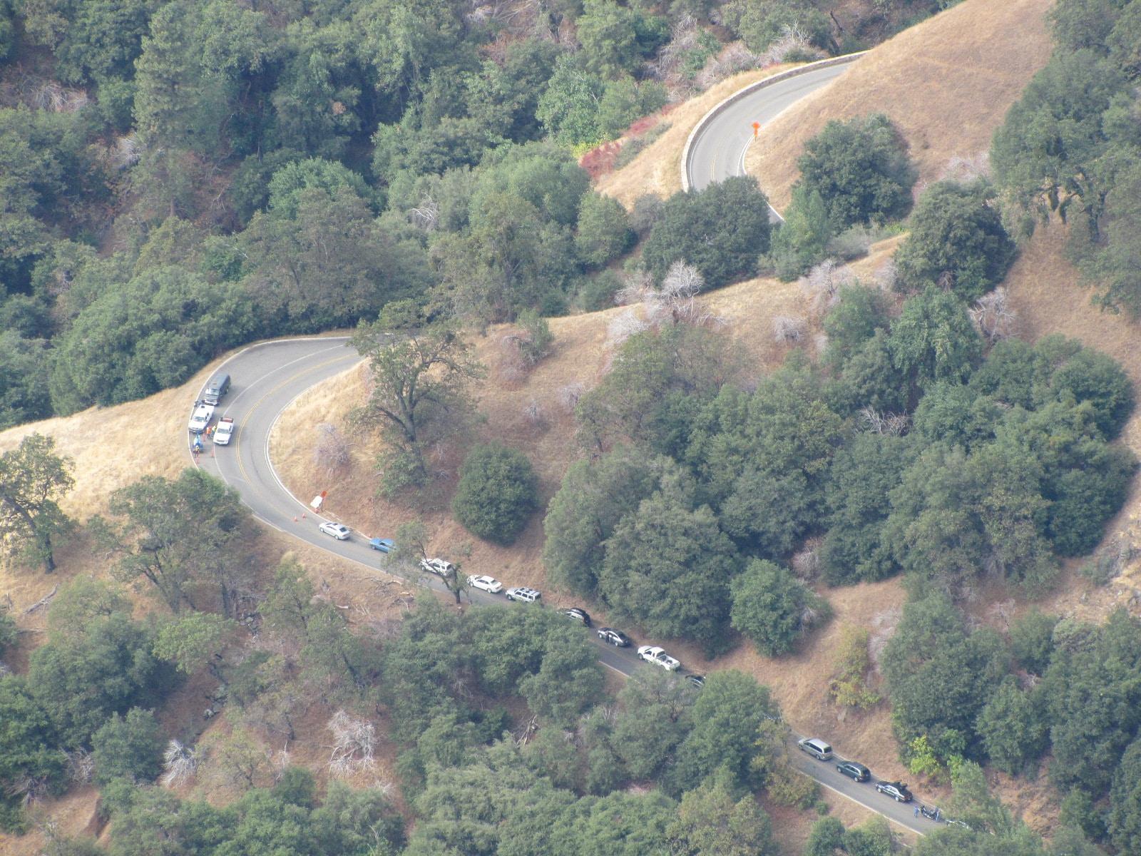 Travaux à l'entrée de Sequoia Park