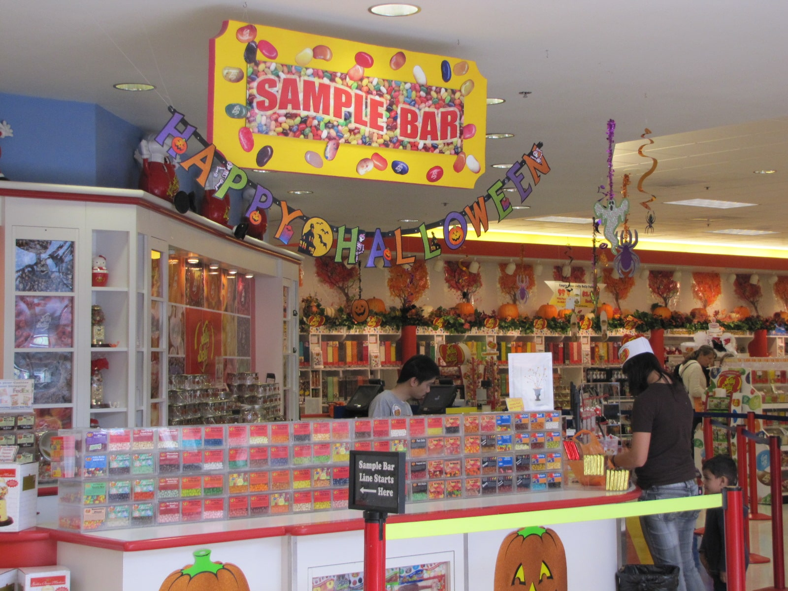 Sample bar Jelly Belly