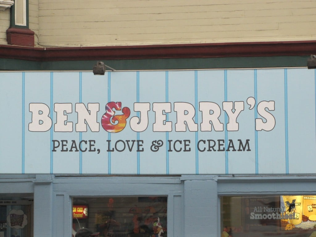 Ben and Jerry's version peace and love