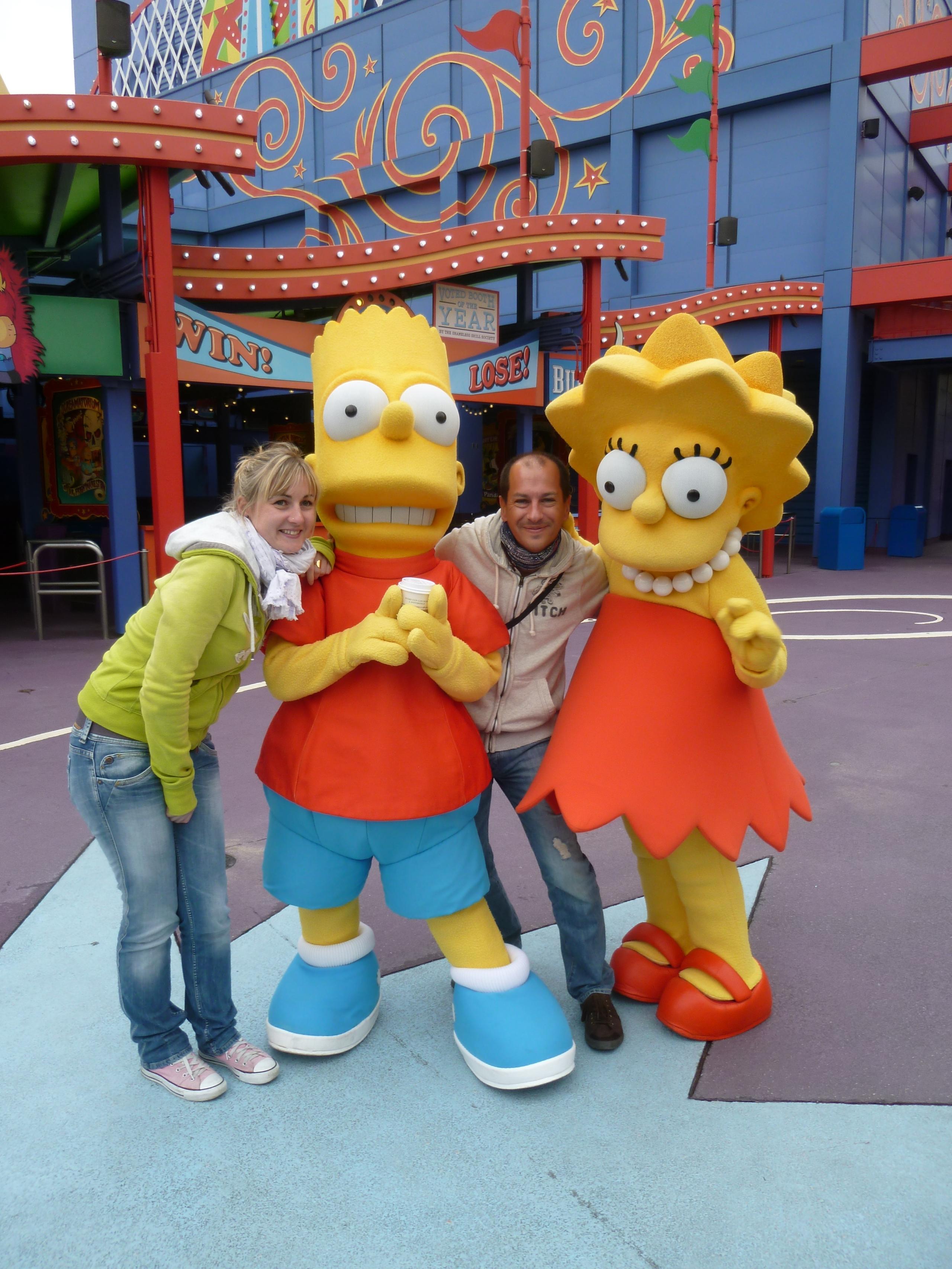 les touristes et les Simpsons